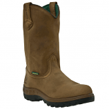 Men's Brown Waterproof Steel Toe Wellington Boot by John Deer