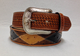 Men's Basket Weave Patchwork Belt by 3-D Belt Company