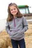 Girl's Heather Grey Half Zip Hooded Sweatshirt By Cruel Girl