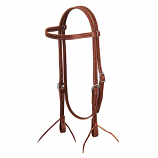 Single Ply Latigo Leather Browband Headstall by Weaver
