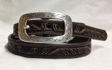 "Women's 3/4"" Embossed Thin Belt by Ariat"