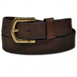 Men's Nocona HD Extreme Plain Brown Leather Belt by M&F