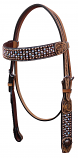 Copper & Crystal Headstall by Bar H