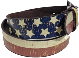 Red, White & Blue Western Fashion Belt by 3D