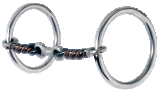 Loose Ring Snaffle-3-Piece Sweet & Sour Dog Bone
