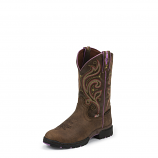 Women's Oily Barnwood Brown Waterproof Boot by Justin