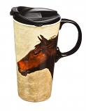 Horse on the Run Ceramic Mug by Evergreen