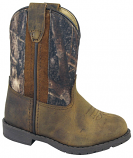 Kid's Brown Distressed and Camo Hopalong Boot for Toddlers by Smoky Mountain Boots