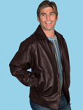 Brown Lambskin Jacket by Scully