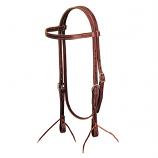 Latigo Leather Browband Headstall by Weaver