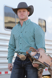 Men's Teal and Black Modern Fit Long Sleeve Shirt by Cinch