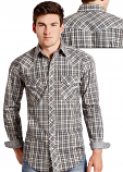 Men's Rough Stock Kenai Vintage Lurex Plaid Shirt by Panhandle Slim