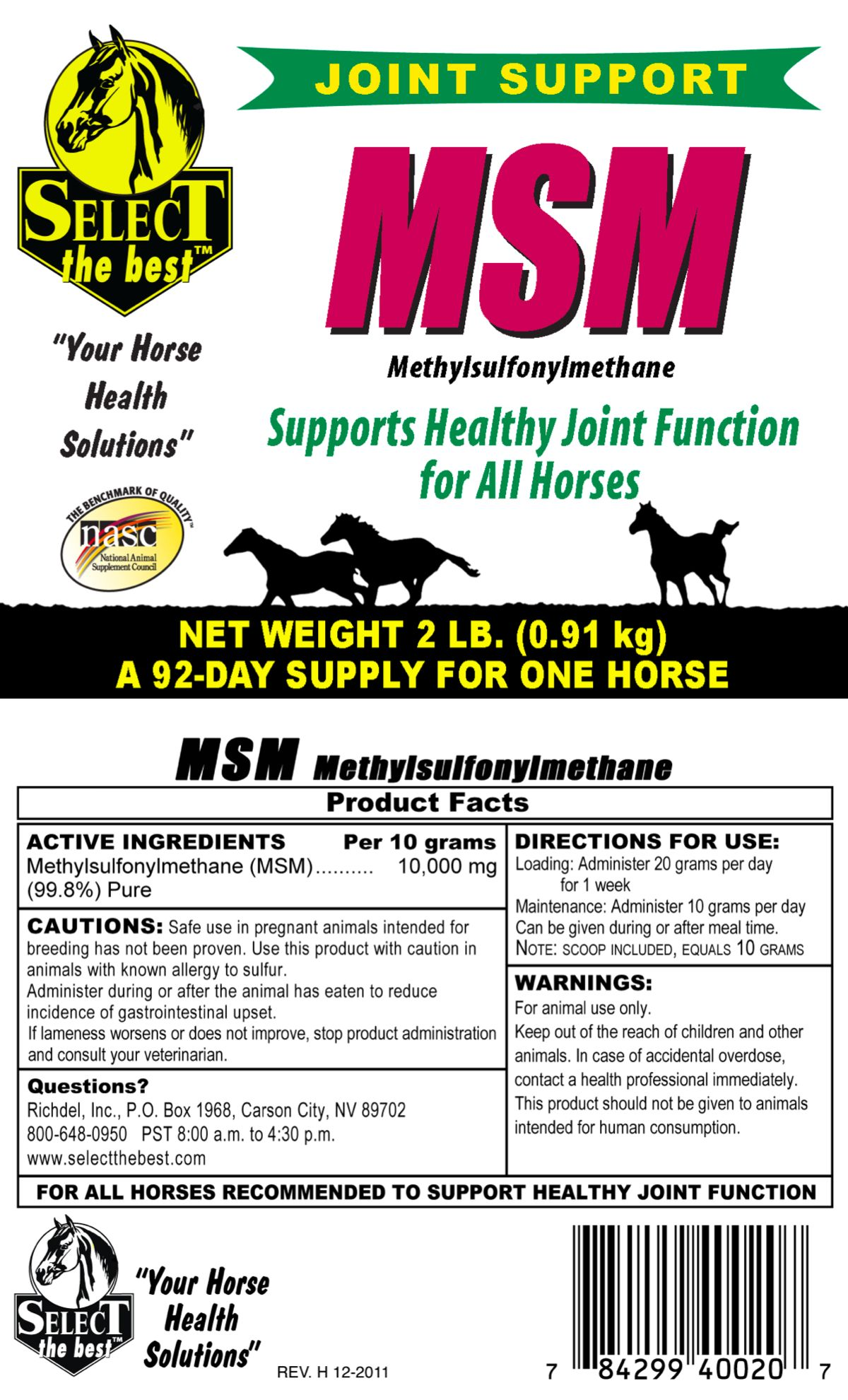 Select the Best MSM Joint Support