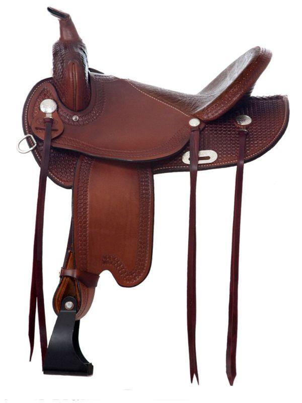 """Trail Flex Lite Saddle with a 16"""" Seat from Dakota Saddlery"""