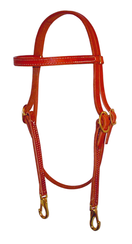 Browband Headstall w/ Snaps by Berlin Leather Company