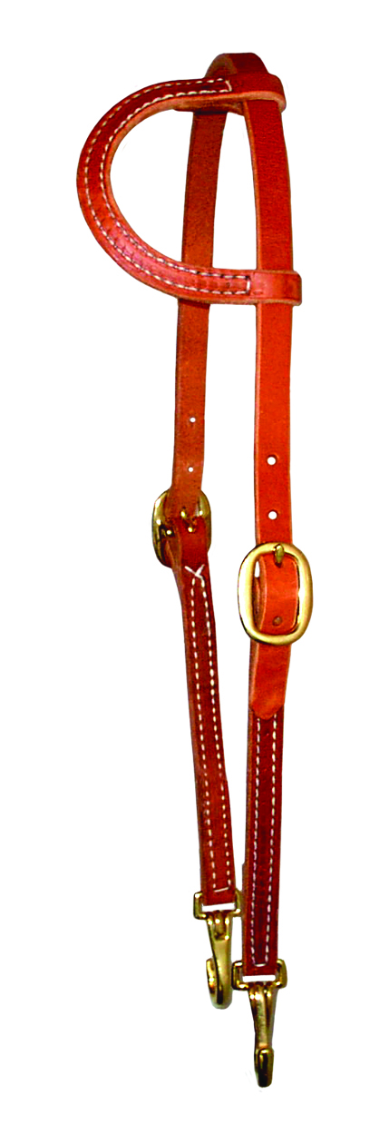 Sliding One Ear Headstall w/ Snaps by Berlin Leather Company