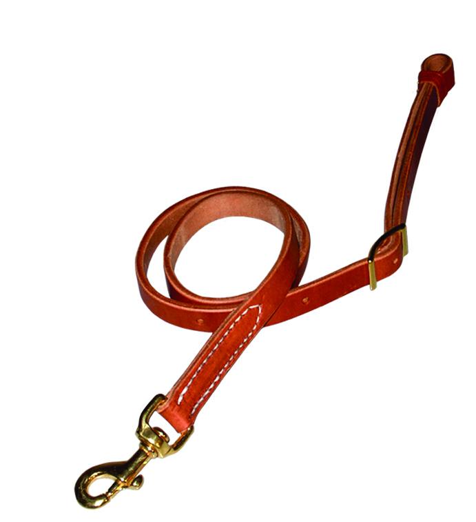 """1""""x 40"""" Herman Oak Harness Leather Tie Down by Berlin Leather Company"""