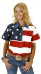 Women's Roper Short Sleeve Flag Shirt