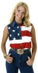 Women's Roper Sleeveless American Flag Shirt