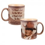 "John Wayne 12oz ""A Man's Got to Do"" Mug"