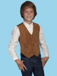 Boar Suede Kid's Western Vest from Scully