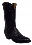 Men's Black Full Quill Ostrich Boot by Black Jack Boots