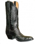 Women's Full Quill Ostrich Boot In Black From Black Jack