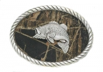 Camo Swimming Bass Buckle by Nocona Belt Co.