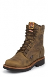 Men's Rugged Tan Lace Up Work boot by Justin Boots