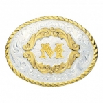 Initial Gold Filigree Buckle by Montana Silversmith