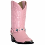 Kid's Pink Fashion Boot with Strap by Laredo