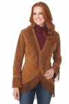 Woman's Leather Fringed Jacket by Cripple Creek