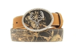 Kid's Mossy Oak and Deerskull Belt by Nocona