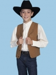 Brown Canvas Western Kid's Vest from Scully