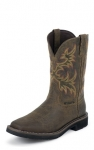 Men's Rugged Tan Waterproof Stampede Boot by Justin Boots