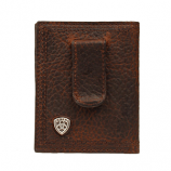 Bifold Clip Shield Brown Rowdy Wallet by Ariat