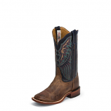 Women's Wide Square Toe Saigets Worn Goat Boot by Tony Lama