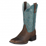 Women's Brown Oiled Quickdraw Boot by Ariat