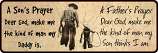 Father and Son Prayer Sign by Rivers Edge