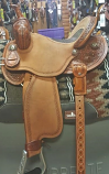 "13 1/2"" BTR Chocolate Bison Inlaid Seat by Martin Saddlery"