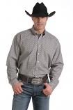 Men's Long Sleeve Button Down Geometric Print Shirt by Cinch