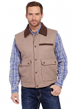 Men's Wool Melton Vest with Microsuede Trim by Cripple Creek