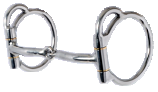 "Trail Dee-3/8"" Stainless Double Five Snaffle"