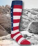 Premium Boot Sock American Flag Print by Durango