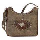 Annie's Secret Distressed Brown Shoulder Bag by American West