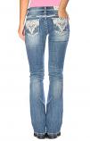 Girl's Light Wash Sparkle Pockets Jeans by Grace in LA