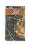 Men's Camo Rodeo Rebel Flag Concho Wallet by M&F