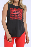 Women's Charcoal Muscle Tank with Cut Out Back by Cinch