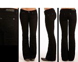 Women's Black Trouser Jeans by Rock and Roll Cowgirl