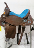 "15"" Chocolate BTR Roughout 1/2 Tool Mountain Daisy Barrel Racer by Martin Saddlery"